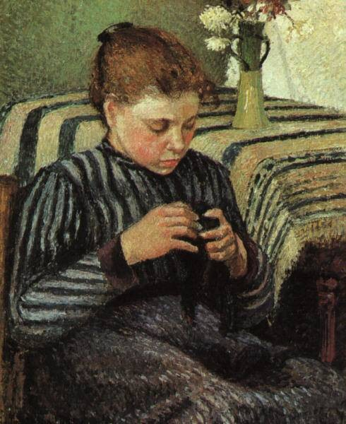 Pissarro Girl Sewing 1895